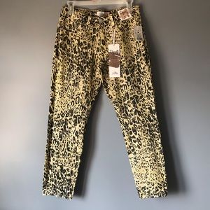 Women's low rise cheetah print pants